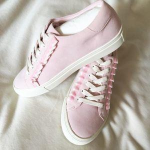 7c05a4f01 Tory Burch Shoes - TORY SPORT Suede Ruffle Sneaker
